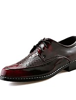 Men's Shoes Synthetic Microfiber PU Spring Fall Comfort Formal Shoes Oxfords Lace-up For Wedding Casual Party & Evening Outdoor Office &