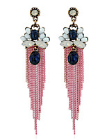 Women's Earrings Set Basic Tassel Metallic Rhinestone Alloy Jewelry For Gift Daily Evening Party Club Street