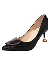 Women's Heels Light Soles PU Summer Dress Kitten Heel Almond Blushing Pink Beige Black 1in-1 3/4in
