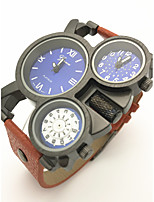 Homens Relógio Esportivo Chinês Quartzo / Couro Banda camuflagem Legal Casual Criativo Preta Laranja