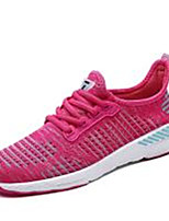 Women's Sneakers Comfort Light Soles Tulle Summer Fall Casual Outdoor Flat Heel Black/Red Fuchsia Gray Dark Blue Running Shoes