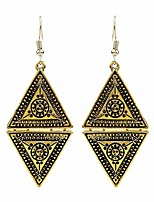 Women's Drop Earrings AAA Cubic Zirconia Floral Gray Pearl Triangle Shape Jewelry For Party Gift Evening Party Stage