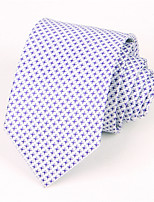 Men's Fashion Leisure Lattice High Quality Silk Jacquard Tie