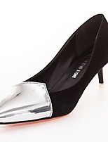 Women's Heels Light Soles Spring Fall PU Casual Dress Kitten Heel Ruby Gray Black 1in-1 3/4in