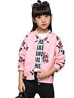 Girls' Floral Suit & Blazer,Polyester Fall All Seasons Long Sleeve