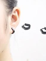 Women's Men's Stud Earrings Hoop Earrings Punk Personalized Rock Hypoallergenic Simple Style Stainless Steel Geometric Jewelry ForCasual
