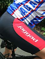 Jaggad Pantaloncini imbottiti da ciclismo Per uomo Bicicletta Pantaloncini imbottiti di protezione Ciclismo Spandez Tinta unita Ciclismo