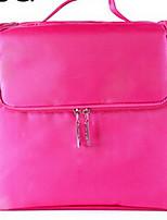 Makeup Storage Cosmetic Bag PU Quadrate Black