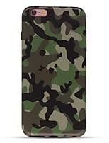 Caso per il iphone 7 6 copertura posteriore morbida della copertura posteriore della copertura posteriore del tpu di colore di tpu 6 più 6