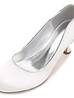 Femme Chaussures de mariage Confort Escarpin Basique Satin Printemps Eté Mariage Habillé Soirée & Evénement RuchéTalon Bas Kitten Heel