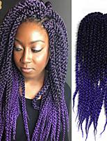 Drejede Fletninger Afro Havana Boks Fletninger Kubistisk Twist Ombre hårfletter 100 % Kanekalon hårSort / Jordbær Blond Sort / Medium