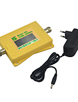Mini Intelligent Display Cell phone 850mhz Signal Booster CDMA 800mhz Signal Repeater with Power Supply Yellow
