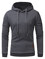 Men's Sports Going out Casual/Daily Simple Vintage Active Sexy Sweatshirt Solid Patchwork Stand Micro-elastic Cotton Long SleeveSpring