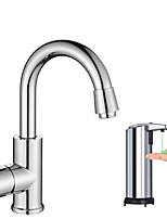Contemporary Vessel Widespread with  Ceramic Valve Chrome , Kitchen faucet