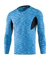 Men's Running Tank Long Sleeves Breathability Stretchy T-shirt Sweatshirt Top for Running/Jogging Exercise & Fitness Elastane Loose White