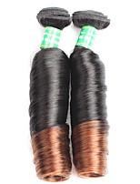 Cappelli veri Brasiliano Ambra Riccio Extensions per capelli 2 Nero / Media Browm