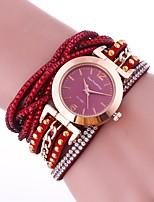 Per donna Orologio alla moda Orologio braccialetto Creativo unico orologio Simulato Triangolo Orologio Cinese Quarzo imitazione diamante
