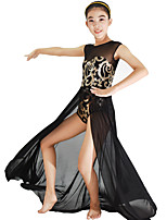 MiDee Dresses Women's / Children's Performance / Flower(s) / Sequins Ballet Sleeveless Natural Dress / Headpieces