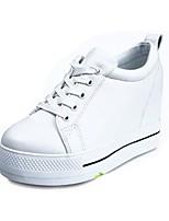Damen Sneaker Komfort Sommer PU Normal Schnürsenkel Flacher Absatz Weiß Schwarz Flach