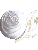 Wedding Flowers Boutonnieres Wedding Organza Satin 1.97