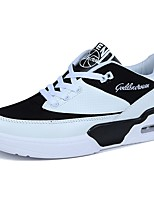Men's Sneakers Comfort Spring Fall Tulle Casual Lace-up Flat Heel Black/White Dark Blue Black Flat