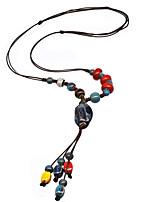 Жен. Ожерелья с подвесками Ожерелья-цепочки Воротничок Сплав Базовый дизайн Мода Ручная работа Бижутерия Назначение Свадьба Для вечеринок