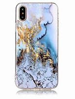 Til iPhone X iPhone 8 iPhone 8 Plus Etuier IMD Bagcover Etui Marmor Blødt TPU for Apple iPhone X iPhone 8  Plus iPhone 8