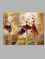 IARTS® Hand Painted Modern Abstract Ballerina Group Dancing Show Oil Painting On Canvas Stretched Frame Wall Art For Home Decoration Ready To Hang