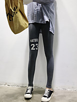 Women's Thin Denim Sporty Legging,Solid