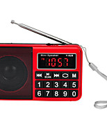 Y-928 Radio portable Lecteur MP3 Carte TFWorld ReceiverNoir Rouge Bleu