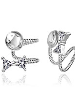 Silver Plated Clip Earrings Earrings Wedding / Party / Daily / Casual 2pcs