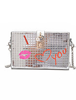 Unisex Bags All Seasons PU Shoulder Bag for Casual Black Silver Blushing Pink