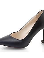 Damen High Heels Pumps Sommer PU Kleid Stöckelabsatz Schwarz Grau Rot 7,5 - 9,5 cm