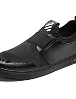 Men's Sneakers Comfort Spring Fall Fabric Casual Flat Heel Silver Black Flat