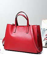 Women Bags All Seasons Cowhide Shoulder Bag Smooth Metal Chain Seamless Zipper for Wedding Event/Party Casual Formal Office & Career