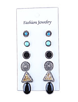 Retro Fashion Gemstone Bohemia Earring Set