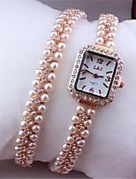 Жен. Модные часы Часы-браслет Кварцевый Металл Группа Розовое золото