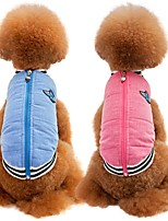 Cat Dog Coat Vest Dog Clothes Party Casual/Daily Keep Warm Sports Solid Blushing Pink Blue