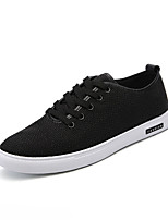 Men's Sneakers Comfort Light Soles Linen Summer Fall Casual Outdoor Flat Heel Beige Black White  Walking Shoes