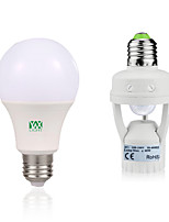 9W E27 LED Globe Bulbs 18 leds SMD 2835 Decorative Human Body Sensor Warm White White 750-950lm 6000-6500/2800-3200K AC85-265V