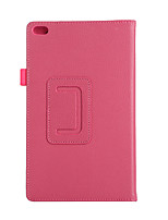 For Case Cover with Stand Flip Full Body Case Solid Color Soft PU Leather for Lenovo Tab4TB-8504F