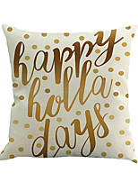 1 Pcs Classic Letter Printing Pillow Cover Cotton/Linen Pillow Case