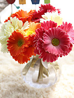 Plastic Daisies Tabletop Flower Artificial Flowers Home Decoration Wedding Supplies Bridal Bouquet Chrysanthemum 6 branch