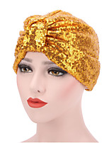 Women's Fashion Shiny Solid  Floppy Bucket Turban Hat & Cap