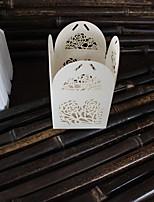 10 Porta-bomboniera-Cubi Carta Carta perlata Bomboniere scatole Confezioni regalo