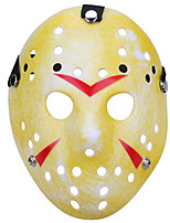 Halloween New Porous Jason Killer Mask Old Faded Yellow Thick 13th Horror Hockey Cosplay Mask Carnaval Masquerade Party Costume Prop