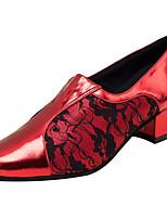Da donna Balli latino-americani Similpelle Sandali Esibizione Ricami Quadrato Rosso 2,5 - 4,5 cm Personalizzabile