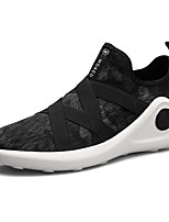 Da uomo Sneakers Corsa Comoda Tulle Autunno Inverno Sportivo Casual Elastico Nero Nero/Rosso Piatto