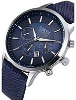 Hombre Reloj Deportivo Reloj de Moda Reloj creativo único Reloj Casual Chino Cuarzo Calendario Resistente al Agua Piel Cuero Auténtico