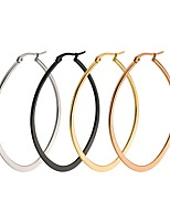 Women's Hoop Earrings Jewelry Basic Costume Jewelry Stainless Steel Oval Jewelry For Wedding Party Stage Office & Career Street